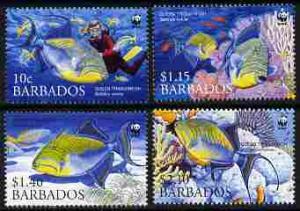 Barbados 2006 WWF - Endangered Species - Triggerfish perf...