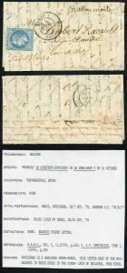France 1870 Balloon Mail Very Scarce PARIS-VAUGIRAD Dispatch CDS