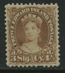 Prince Edward Island QV 1870 4 1/2d yellow brown mint o.g. hinged