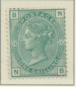 Great Britain Stamp Scott #64a Plate #12, Mint Hinged, Original Gum Light Cre...