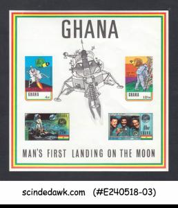 GHANA - 1970 SPACE EXPLORATION - FIRST MOON LANDING MIN/SHT MNH IMPERF