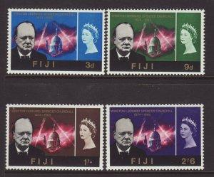 1966 Fiji Churchill Set Mounted Mint SG345/348