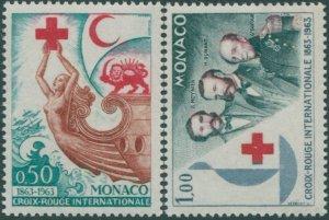 Monaco 1963 SG756-757 Red Cross set MNH