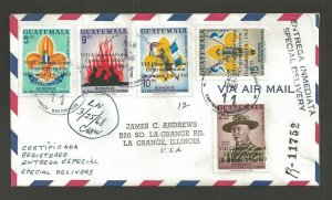 1968 Guatemala Boy Scouts Conference ovpt VIII Camporee commercial registered