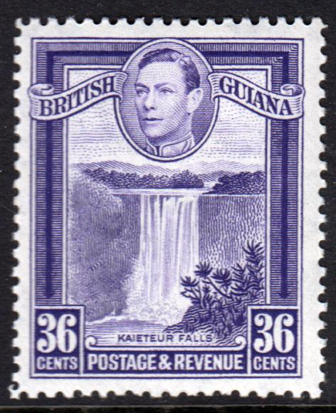 British Guiana KGVI 1938 36c Bright Violet SG313 Mint Lightly Hinged