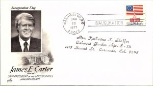 United States, District of Columbia, Inaugural Cover