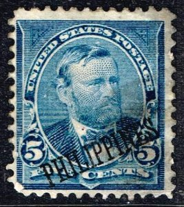 Philippines Stamp # 216 1899 -1901 USA Stamps Ovpt  PHILIPPINES  5c used