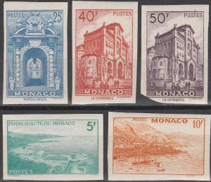 Monaco #228-31 MNH Imperf CV $315.00 (C7489)