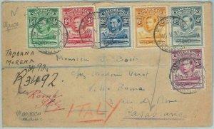 67631 - BASUTOLAND - Postal History - Cover from MAFEKING twice redirected! 1938