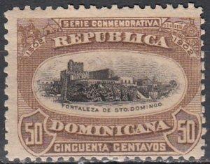 Dominican Republic, Sc 150, MH, 1902, Fort Santo