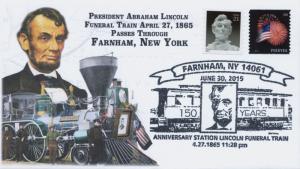 2015, President Lincoln Funeral Train Route, Pictorial, Farnham NY, 15-359