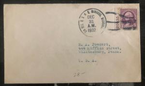 1932 USMC Navy Marines Post Office In Nicaragua Cover to Wilkinsburg PA Usa
