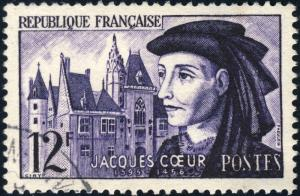 FRANCE - 1955 - Yv.1034 / Mi.1060 - 12fr Jacques Coeur - Oblitéré TB