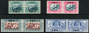 1938 South West Africa semi postal complete set Sc# B5 / B8  MNH CV: $109.00