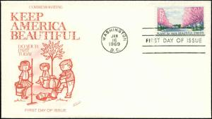 US FDC #1368 Fleetwood Cachet Washington, DC Unaddressed
