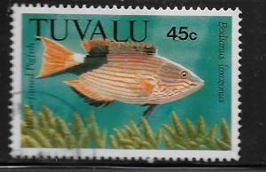 TUVALU, 505, USED, BLACK FINNED PIGFISH