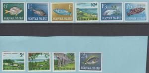 Norfolk Island 49 - 60 Excellent État à Charnières Og - N°Défauts Très Fine