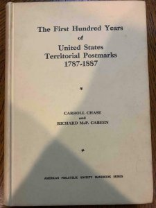 US Territorial Postmarks 1787-1887 by Chase and Cabeen 1950,Stamp Philately Book