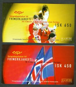 ICELAND (H40-41) Scott 860-1 National Holidays booklets, VF, Scott $40.00