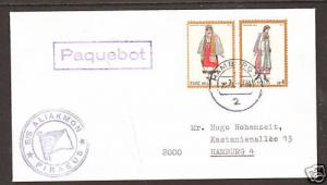 Greece Sc 1042 on 1976 German PAQUEBOT Cover, VF   3;9
