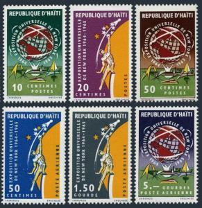 Haiti 521-523,C233-C235,MNH.Michel 812-817. New York World Fair,1965.Globe.