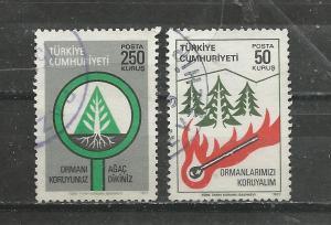 Turkey Scott catalogue #2083-2084 Used