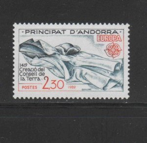 ANDORRA, FRENCH #295  1982   EUROPA  MINT VF NH  O.G