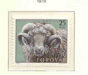 Faroe Islands Sc  42 1979 25 kr Ram stamp mint NH