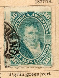 Argentina 1877-78 Early Issue Fine Used 16c. NW-11792