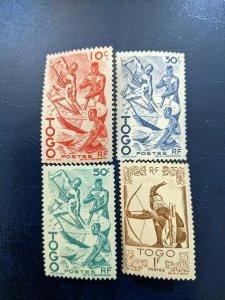 Togo 309-311,313 VF-XFLH, CV $2.80