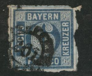 Bavaria German State Scott 11 used 1862