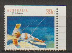 Australia SG 1179a FU - booklet stamp top right imperf - ...
