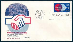 UNITED STATES FDC 10¢ Collective Bargaining 1975 Fleetwood