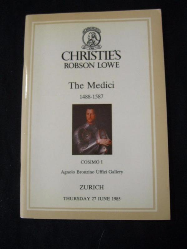 CHRISTIES LOWE AUCTION CATALOGUE 1985 THE MEDICI