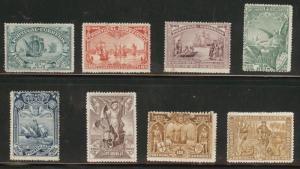 PORTUGAL Scott 147-54 1898 Vasco da Gamma set CV $169 Defects