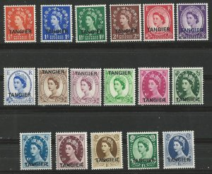 Great Britain-Tangier # 559-575 QE II Definitives 1952-53 (17) Unused LH
