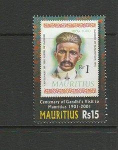 Mauritius 2001 Centenary Gandhis visit to Mauritius FU SG 1065