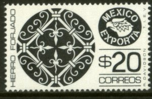 MEXICO EXPORTA 1127, $20P. WROUGHT IRON, PAPER 1. MINT, NH. VF.