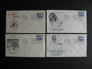 Canada 4 different cachet FDC first day covers! Sc 412 Frobisher