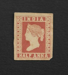 INDIA 1854 ESSAY PROOF LITHOGRAPH TRANSFER SPECIMEN IN 1894 - SPENCE #129