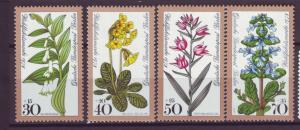 J20755 Jlstamps 1978 berlin germany set mnh #9nb148-51 flowers