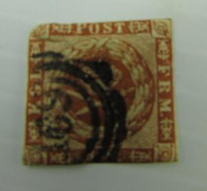 1858 Denmark  SC #A4  used stamp