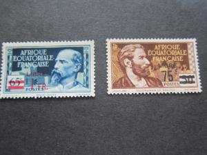 French Equatorial Africa 1940 Sc 126-7 set MH