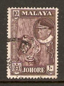 Malaya-Johore  #163  used  (1960)