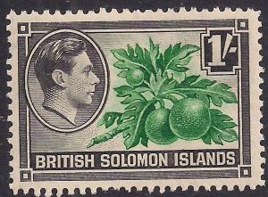 British Solomon Islands 1939 - 51 KGV1  1/-d Breadfruit  SG 68 ( R966 )