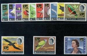 Pitcairn Islands 1967 QEII Decimal Overprint set superb MNH. SG 69-81. Sc 72-84.