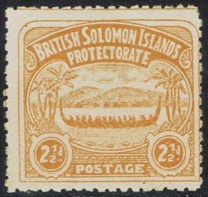 BRITISH SOLOMON ISLANDS 1907 LARGE CANOE 21/2D