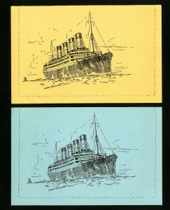 Mauritania Stamps Lot of 2 Early Mint Cunard Stationary Cards