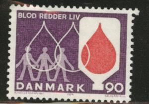 DENMARK  Scott 531 MNH** 1974 blood donor stamp