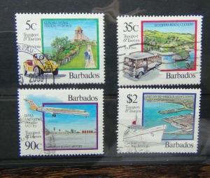 Barbados 1992 Transport & Tourism set Used
